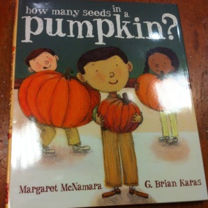 """How many seeds in a pumpkin?"" Book Cover"