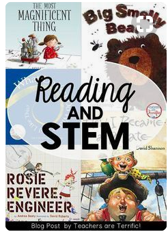 Reading and STEM Cover picture for the blog: https://www.bloglovin.com/blogs/teachers-are-terrific-5107903/5-books-for-stem-activities-you-can-do-today-5386296357