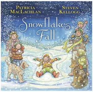"Book Cover of ""Snowflakes Fall"""