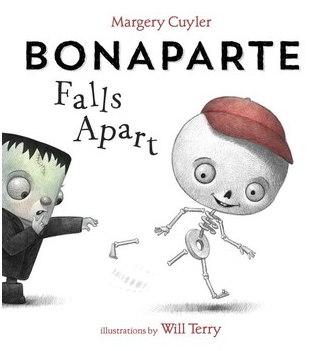 """Thirsty, Thirsty Elephants"" and ""Bonaparte Falls Apart"" book covers"