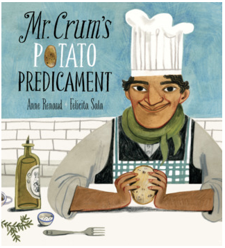 """A Moon of My Own"", ""Mr. Crum's Potato Predicament"", and ""Life on Mars"" book covers"
