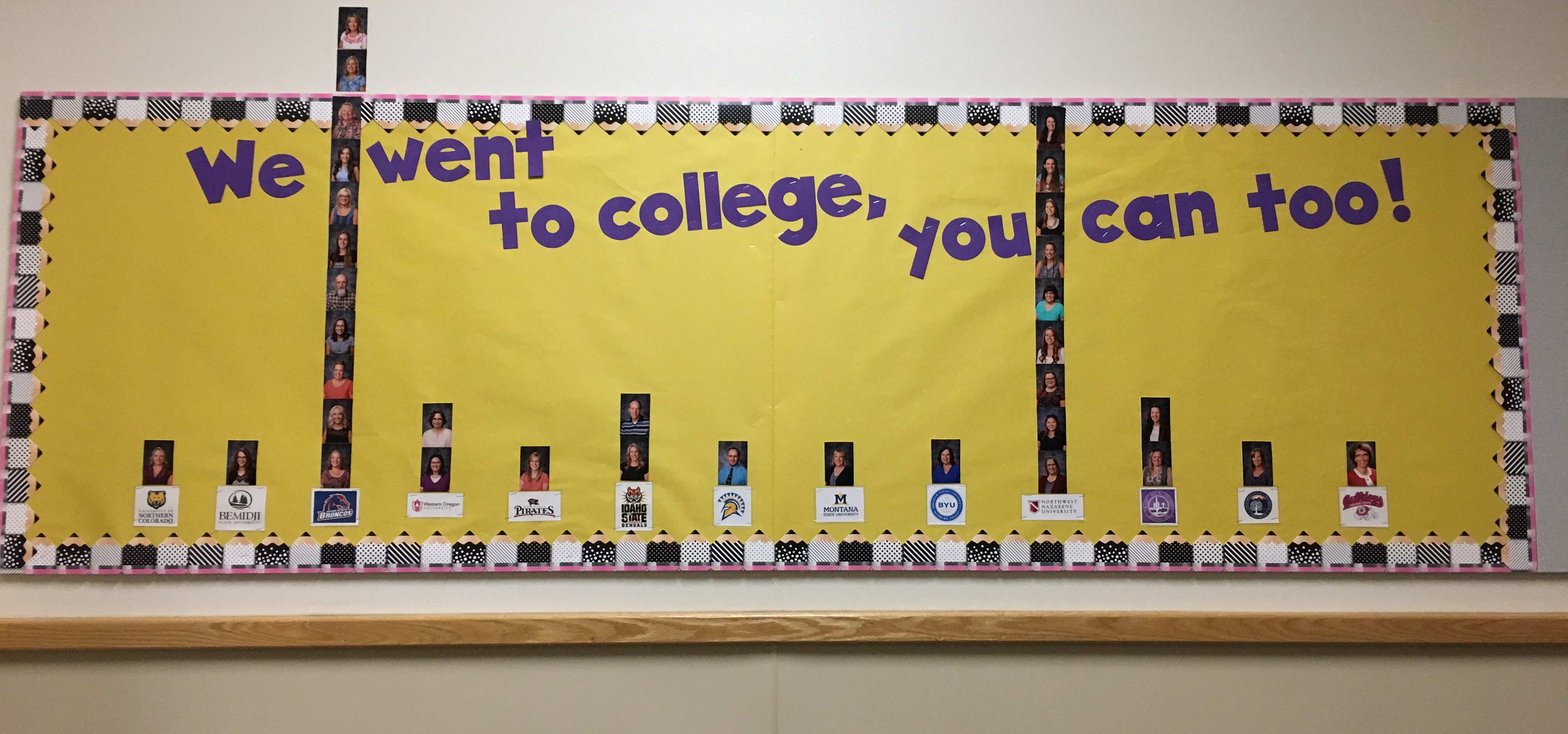 Teacher College Graph Bulletin Board