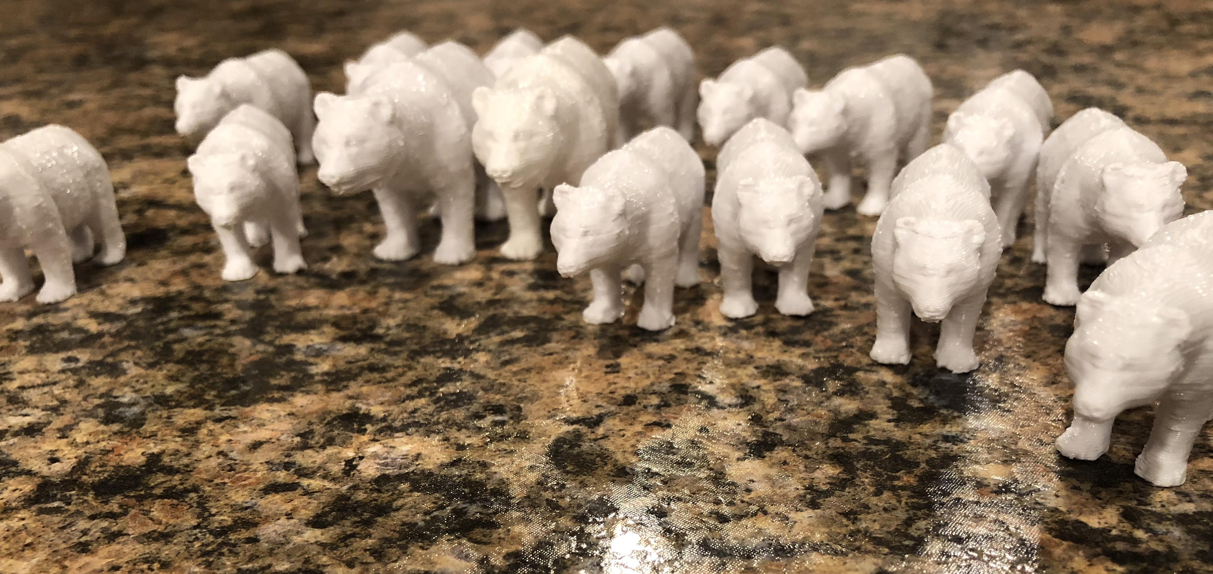 3D printed bears