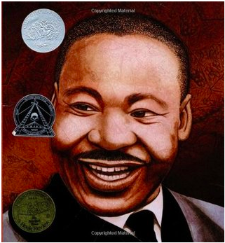 Book covers featuring picture books about Dr. Martin Luther King, Jr.