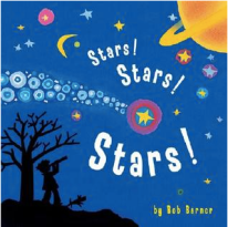 """Book Covers of: """"Stars! Stars! Stars!"""", """"Building a House"""", """"I Want to be an Astronaut"""", and """"Free as the Wind""""."""