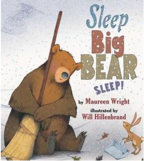 "Book Covers of ""Sleep Big Bear Sleep!"" and ""Bear Snores On"""