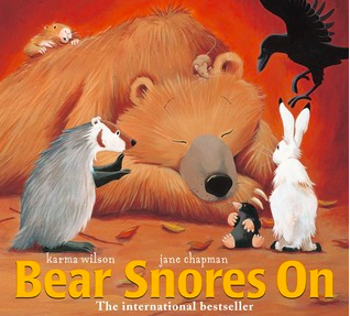 "Book Covers of: ""Bear Snores On"", ""Bear Wants More"", ""Sleep, Big Bear, Sleep!"", ""When the Earth Wakes"", and ""Eat Like a Bear"""