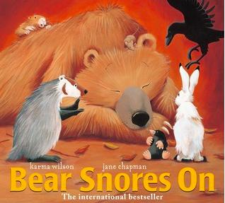 "Book Covers of: ""Bear Snores On"", ""Bear Wants More"", ""Sleep, Big Bear, Sleep!"", ""When the Earth Wakes"", and ""Eat Like a Bear"""