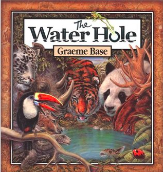 "Book Covers of ""The Water Hole"" and the ""Cloudy with a Chance of Meatballs"" Series"