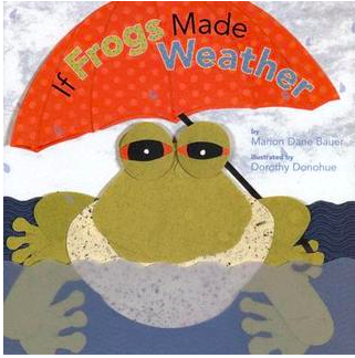 """Book Covers of: """"If Frogs Made Weather"""", """"The Polar Bear Paddle"""", """"Big Snow"""", """"Twister"""", and """"Doctor Ted""""."""