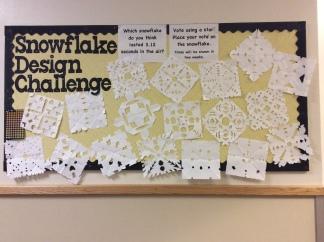 Snowflake Design Challenge Bulletin Board