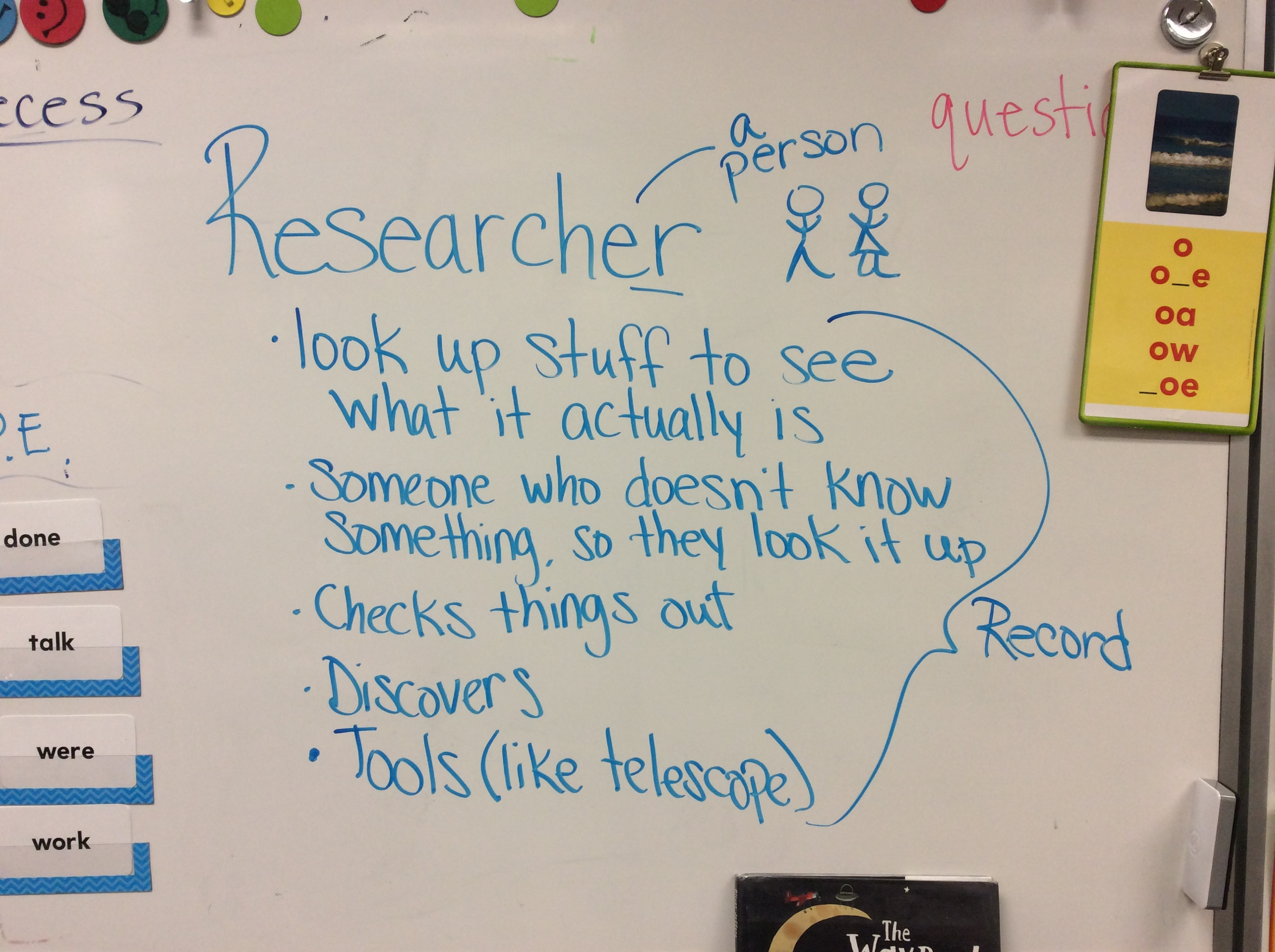 first grade thoughts on a researcher