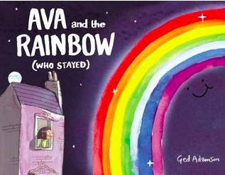 """Book Covers for """"Ava and the Rainbow"""", """"When Sophie Thinks She Can't..."""", """"All the Way Home"""", """"You Can't Win Them All, Rainbow Fish"""", """"Falling Water"""", and """"Through the Zoo""""."""