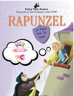 Book Covers for the Fairy Tale Fixers by Jasmine Brooke: Rapunzel, Jack and Beanstalk, Goldilocks and the Three Bears, The Princess and the Pea