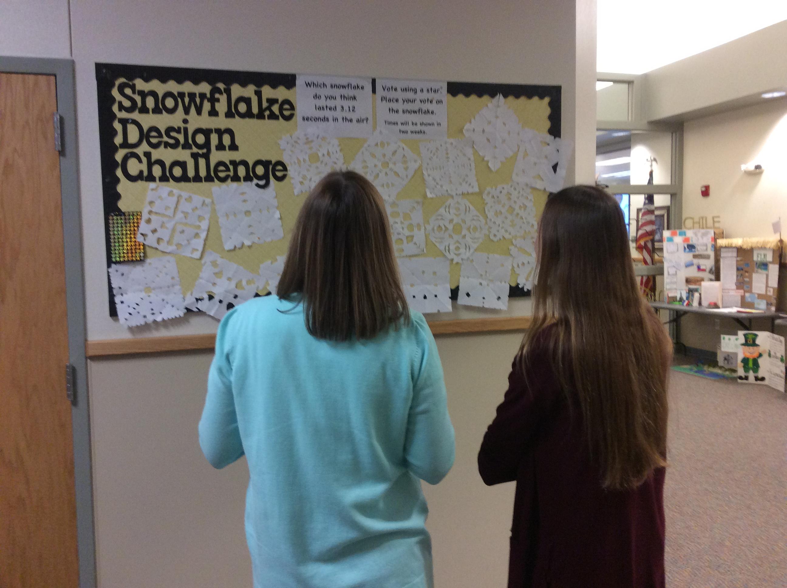 Teachers selecting their snowflake