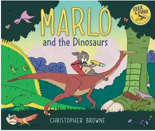 """Book Cover for """"Marlo and the Dinosaur"""""""
