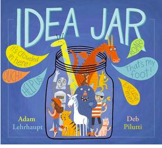 """Book Covers for """"Idea Jar"""", """"The Shape of the World"""", and """"Hooked""""."""